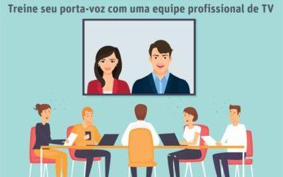 Media Training seu porta-voz treinado com uma equipe profissional de TV
